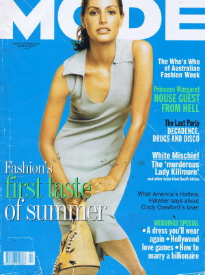 Image of the Cover of MODE Magazine from August-September 1997