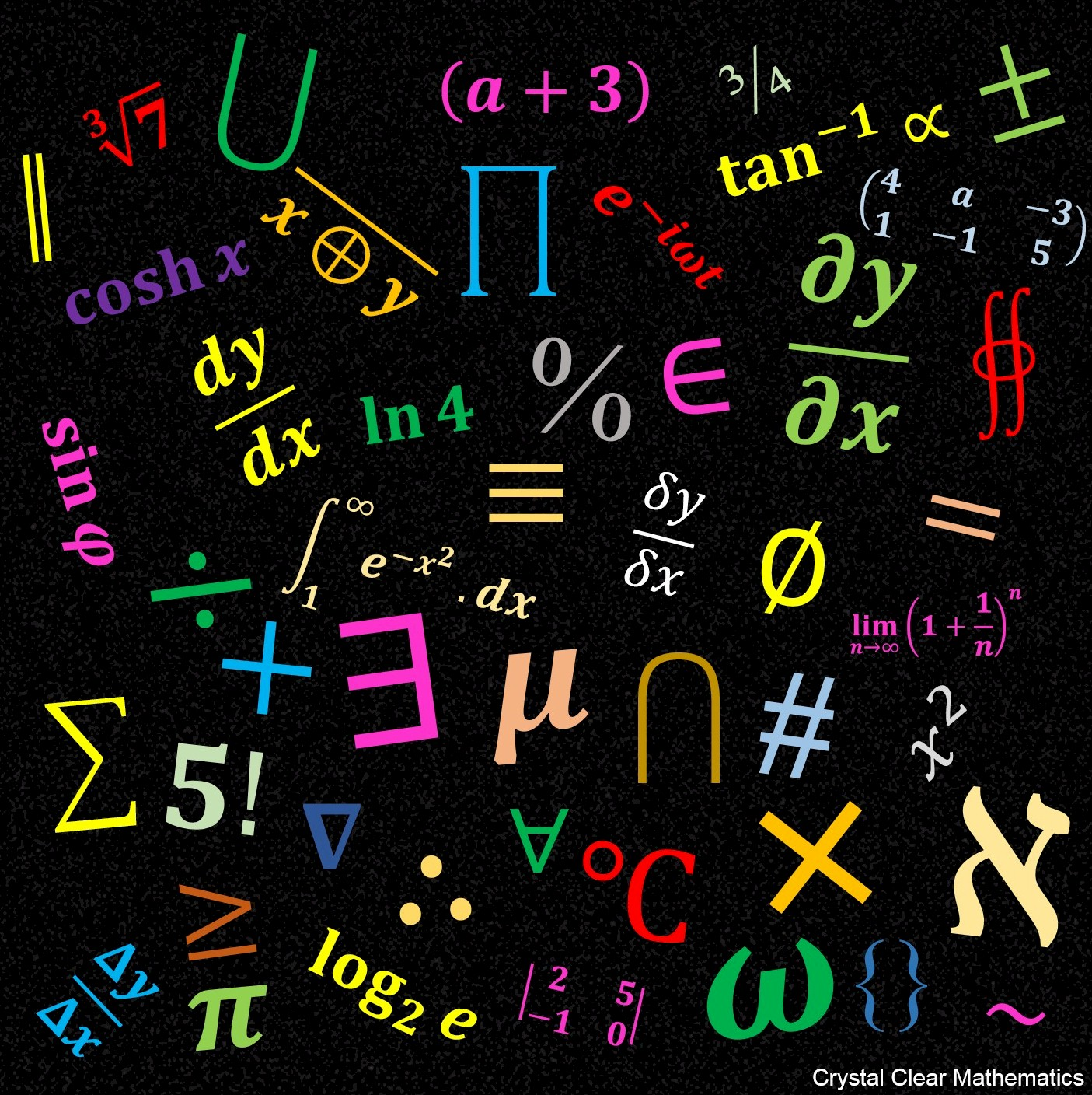 Mathematical symbols crystal clear mathematics collage of mathematical symbols buycottarizona