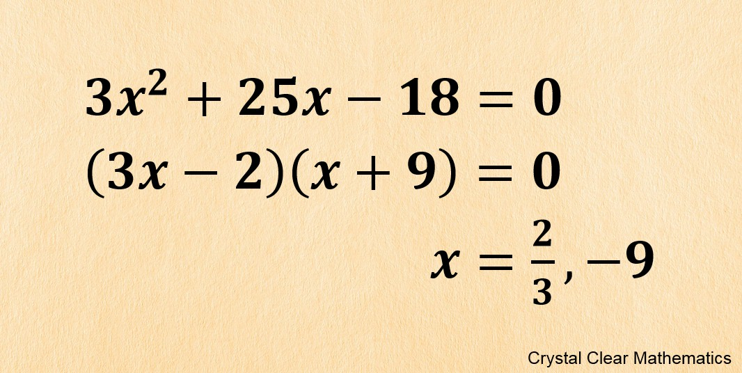 Three Lines Of Work Showing How To Solve The Quadratic Equation X Squared Plus Twenty: Solving Quadratic Equations By Factorisation Worksheet At Alzheimers-prions.com