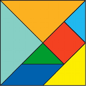Tangram Pattern Ready to Print and Cut into Pieces