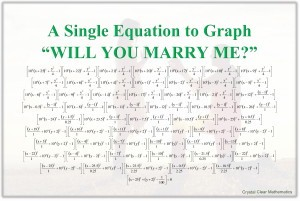 Thumbnail of Poster showing the equation to graph WILL YOU MARRY ME?
