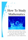 Thumbnail Image of the Cover of Graeme Henderson's Book, How to Study Mathematics.