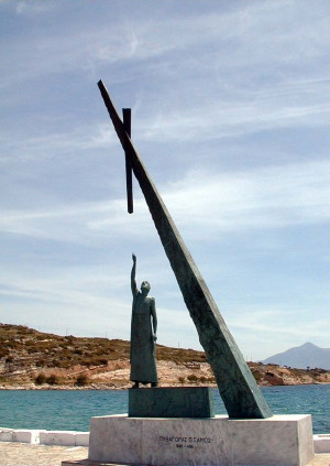 Monument to Pythagoras on the Island of Samos